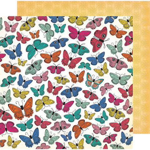 "(Pre Order) American Crafts - Vicki Boutin All The Good Things Dbl-Sided Cardstock 12""X12"" Social Butterfly"