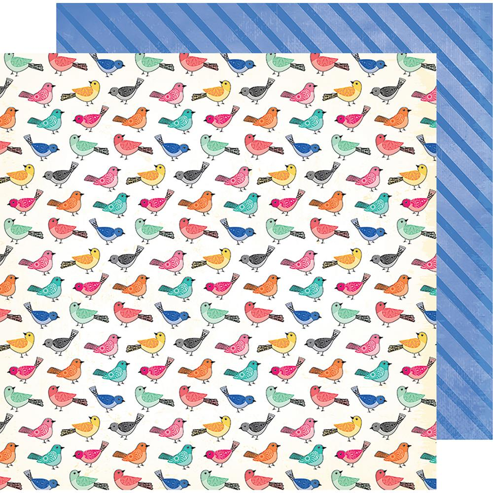 "American Crafts - Vicki Boutin All The Good Things Dbl-Sided Cardstock 12""X12"" Birds Of A Feather"