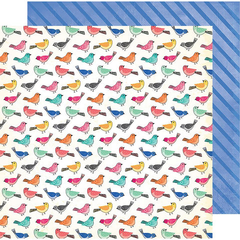 "(Pre Order) American Crafts - Vicki Boutin All The Good Things Dbl-Sided Cardstock 12""X12"" Birds Of A Feather"