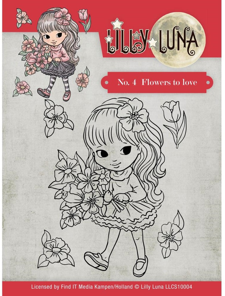 Find It Trading - Lilly Luna Clear Stamps - Flowers To Love