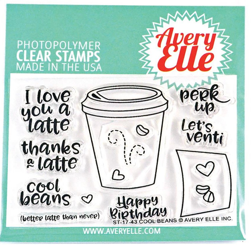 Avery Elle - Photopolymer Clear Stamps - Cool Beans