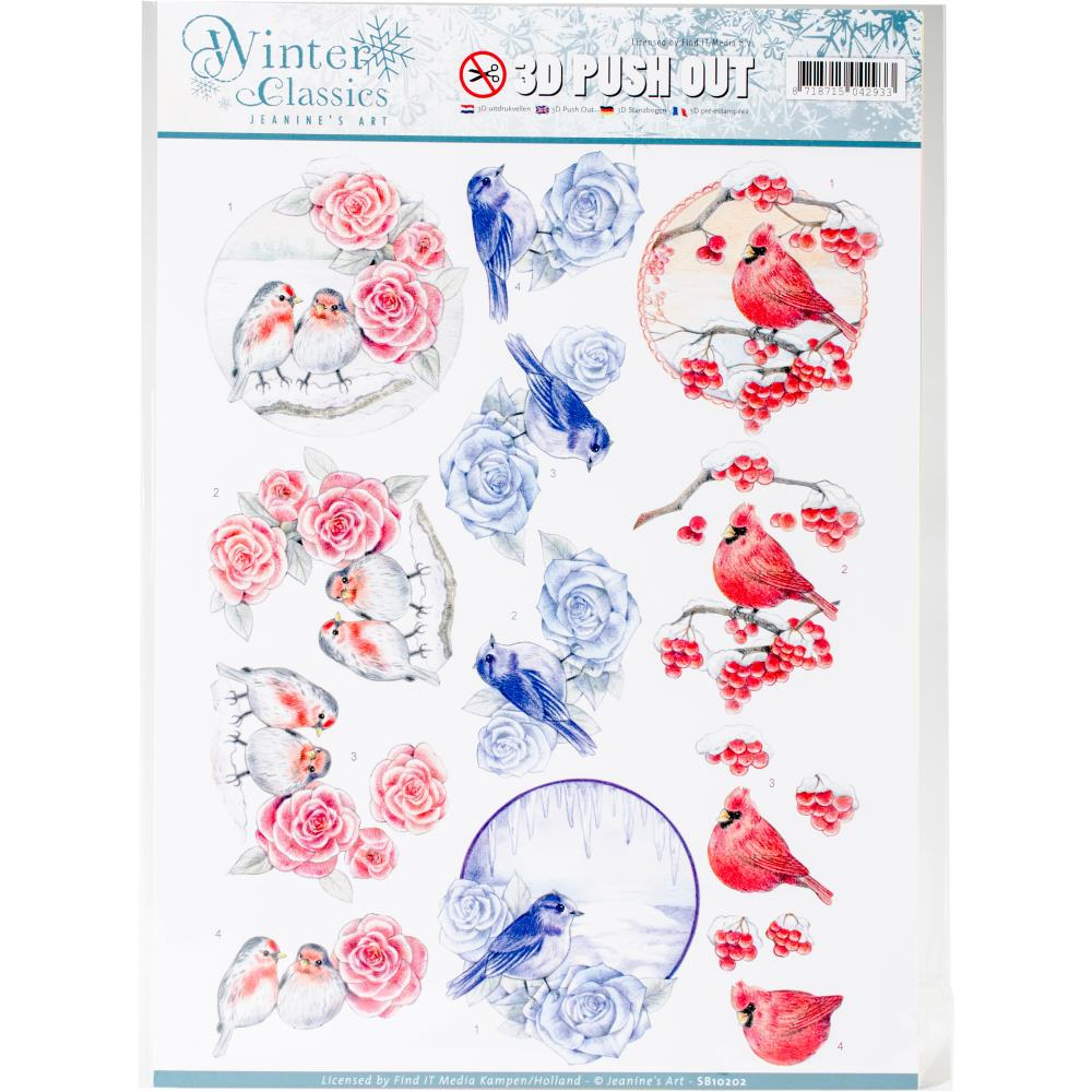 Find It Jeanine's Art Winter Classics - 3D Push Out Sheet - Winter Birds