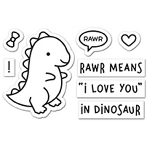 "(Pre Order) Lawn Fawn Clear Stamps 3""X2"" -  Rawr"