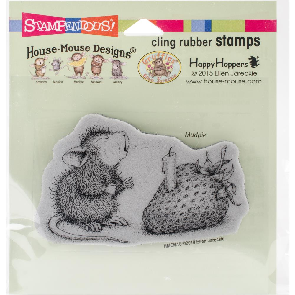 Stampendous House Mouse Cling Stamp - Strawberry Wish