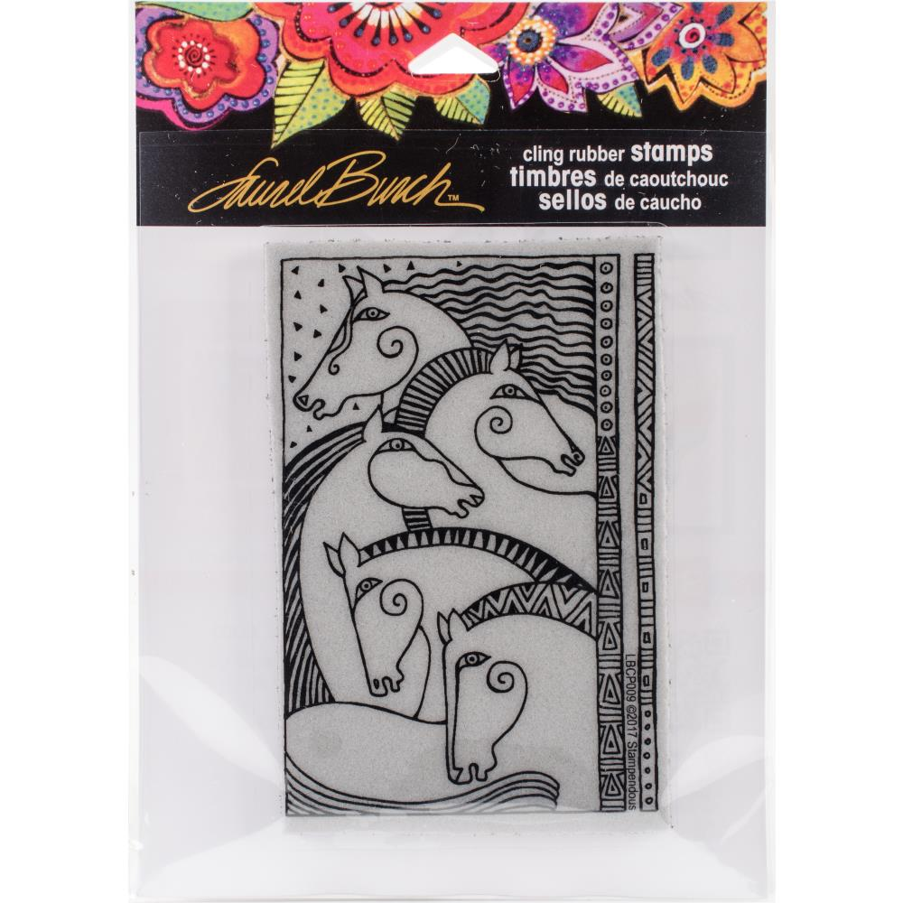 Stampendous Laurel Burch Cling Stamp - Horse Friends