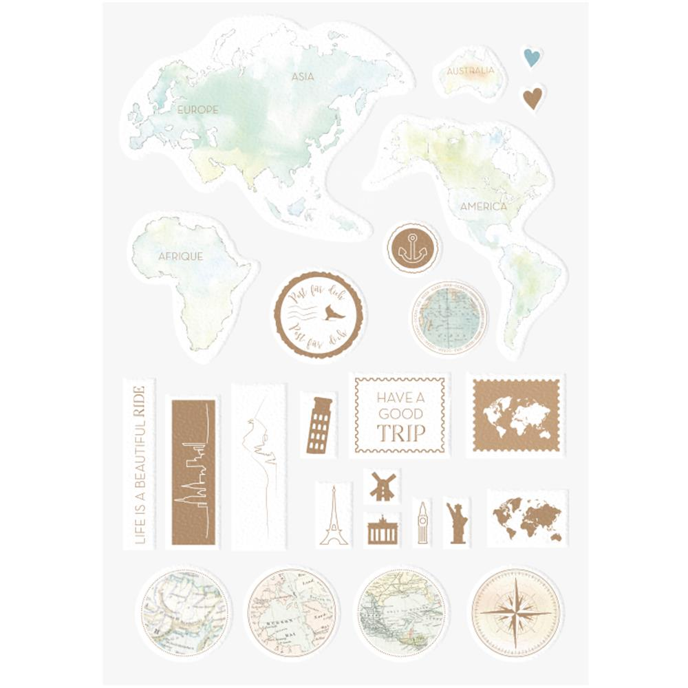 Alexandra Renke - Travel Sticker - World Globe