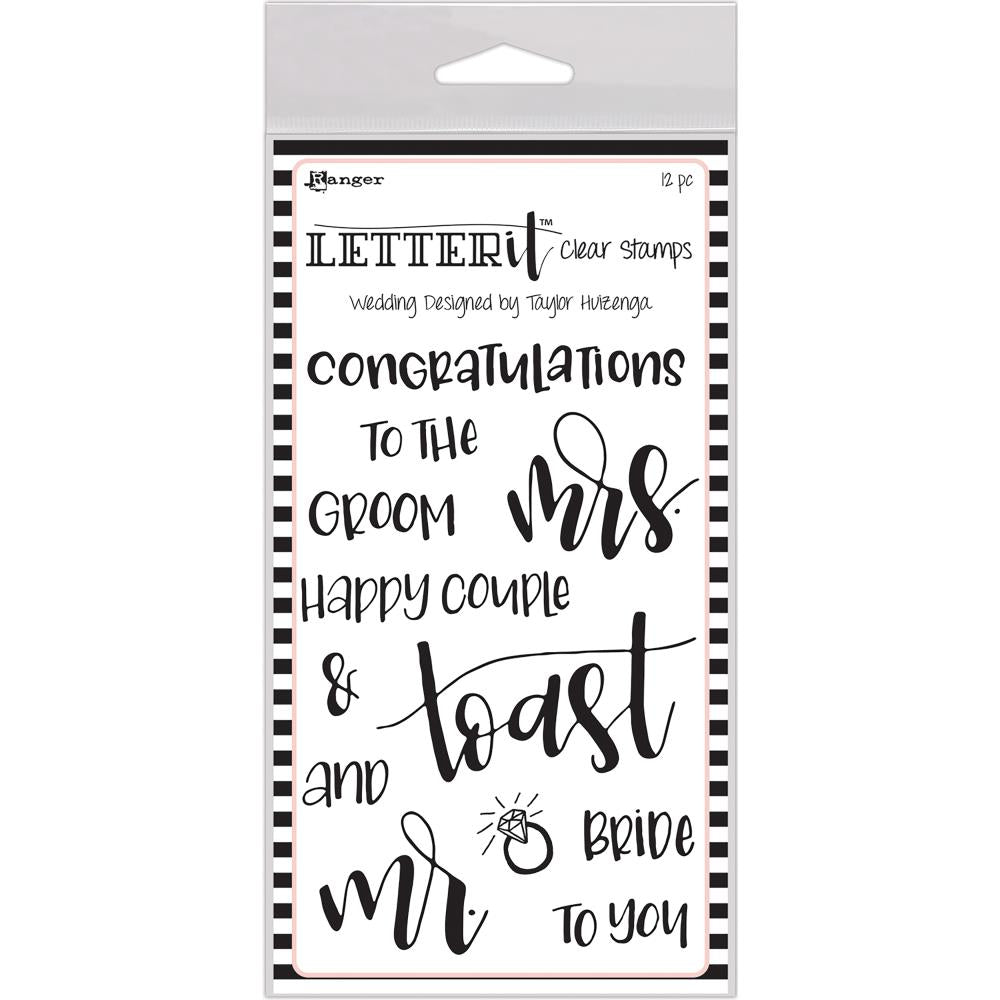 "Ranger - Letter It Clear Stamp Set 4""X6""-  Wedding"