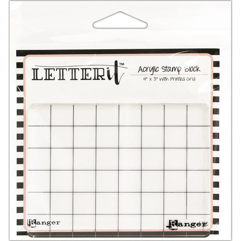 "(Pre Order) Ranger Letter It Acrylic Stamping Block 4""X3"""
