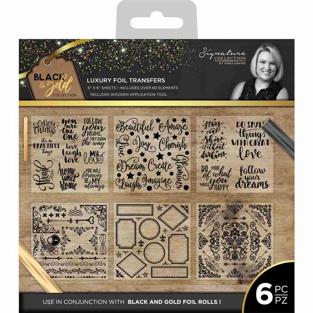 Crafter's Companion - Black & Gold Collection Luxury Foil Transfers