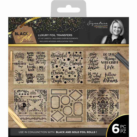 ***Pre-Order*** Crafter's Companion - Black & Gold Collection Luxury Foil Transfers
