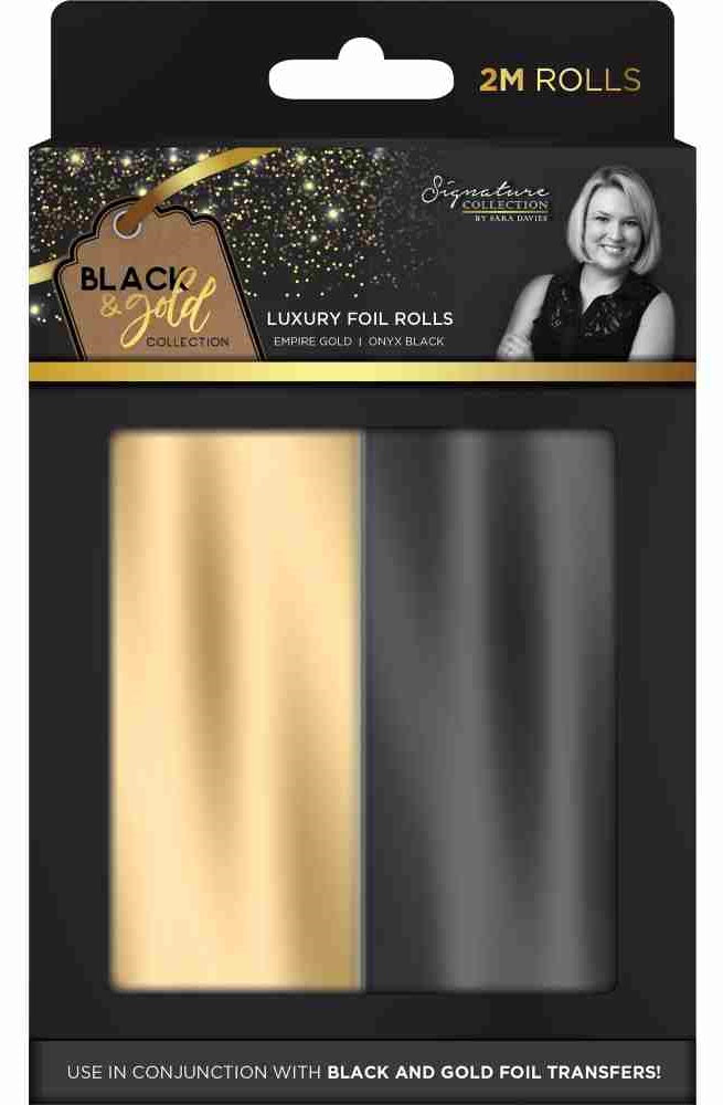 Crafter's Companion - Black & Gold Collection Luxury Foil Rolls