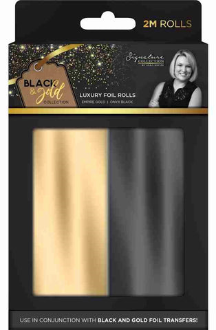 ***Pre-Order*** Crafter's Companion - Black & Gold Collection Luxury Foil Rolls