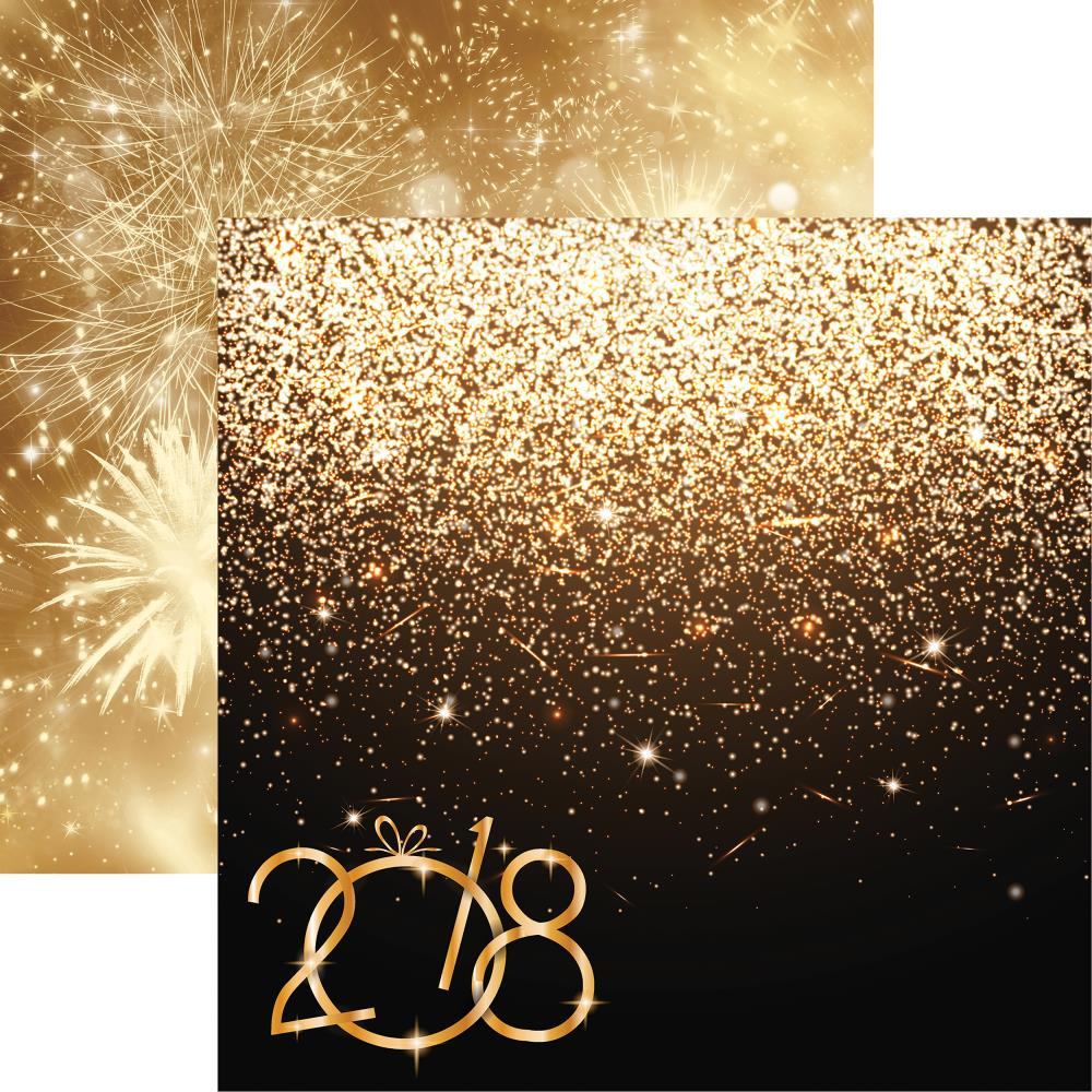 Reminisce - New Year's 2018 Double-Sided Cardstock - Golden New Year