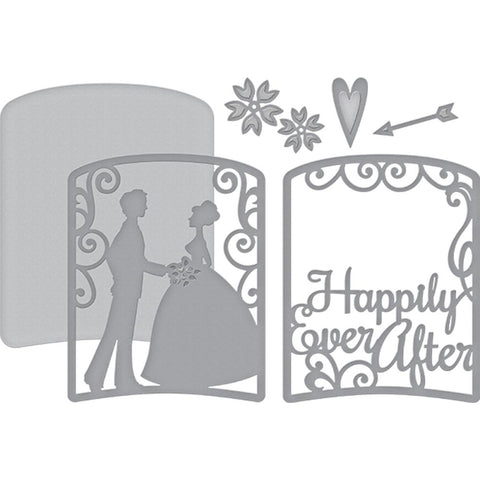 (pre order) Spellbinders Shapeabilities Dies - Layered Happily Ever After