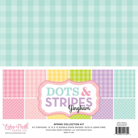 "Echo Park - Double-Sided Collection Pack 12""X12"" 12/Pkg - Spring Gingham"
