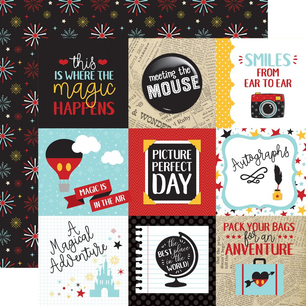 "Echo Park - Wish Upon A Star Double-Sided Cardstock 12""X12"" 4""X4"" - Journaling Cards"