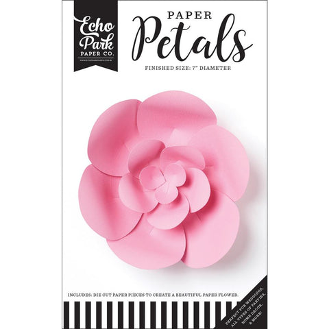 (Pre Order - Mid March) Echo Park Paper Petals - Small Pink Peony, 19pcs
