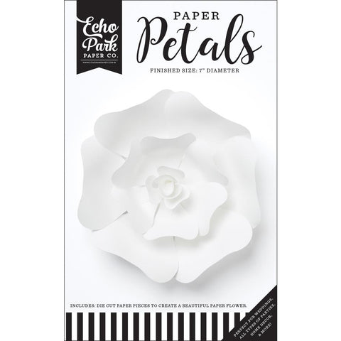 (Pre Order - Mid March) Echo Park Paper Petals - Small White Rose 19pcs
