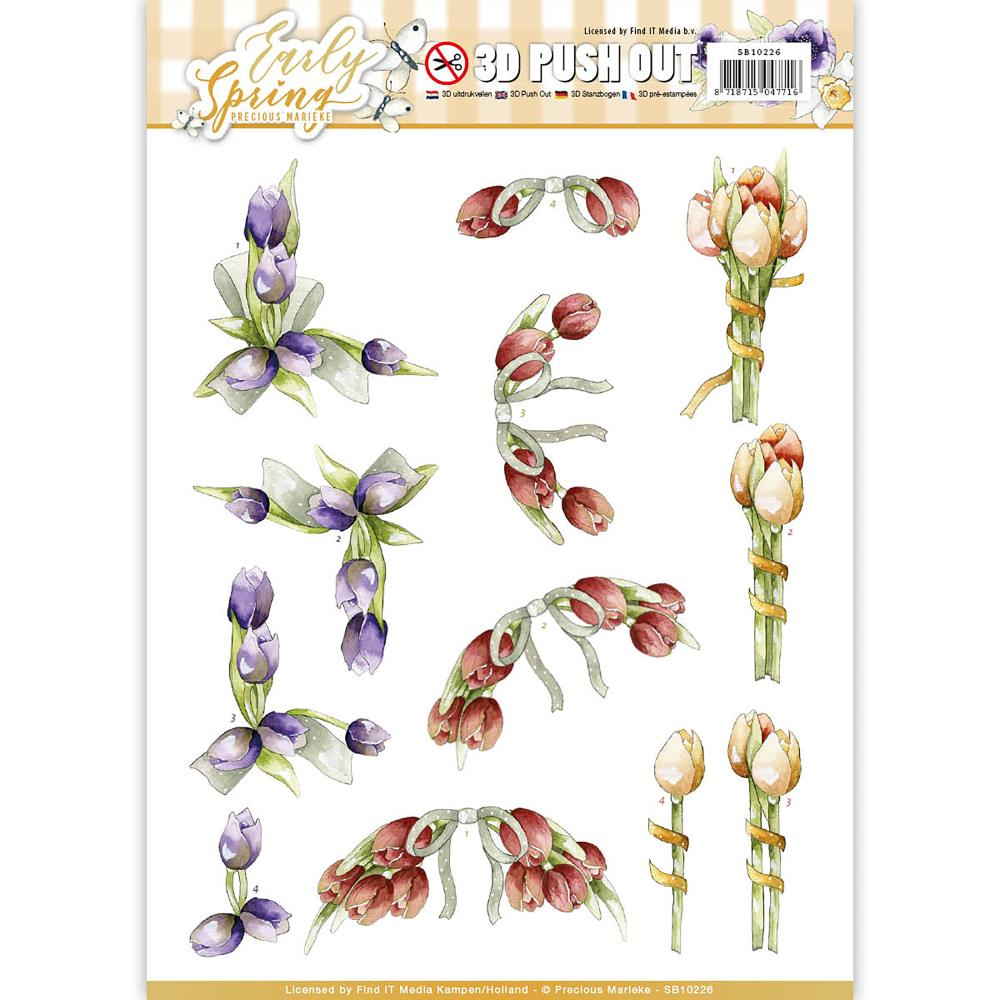 Find It Precious Marieke Early Spring Punchout Sheet - Early Tulips