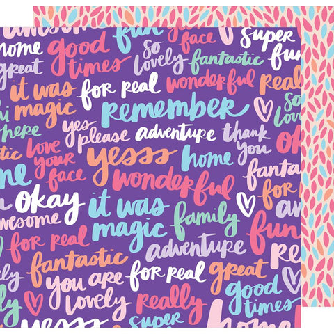 "American Crafts - Amy Tan Sunshine & Good Times Double-Sided Cardstock 12""X12"" - Yesss Please"