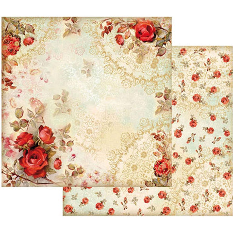 "Stamperia - Double-Sided Cardstock 12""X12"" - Red Roses"