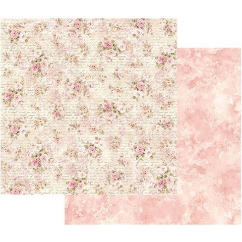 "Stamperia - Double-Sided Cardstock 12""X12"" - Shabby Roses & Writing"