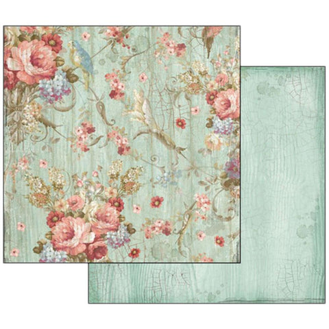 "Stamperia - Double-Sided Cardstock 12""X12"" - Liberty Flowers"
