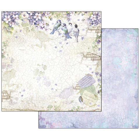 "Stamperia - Double-Sided Cardstock 12""X12"" - Flower Alphabet Wisteria"