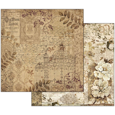 "Stamperia - Double-Sided Cardstock 12""X12"" - Old Lace Gate"
