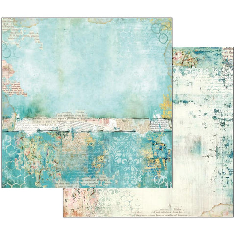 "Stamperia - Double-Sided Cardstock 12""X12"" - Wonderland Turquoise Texture"