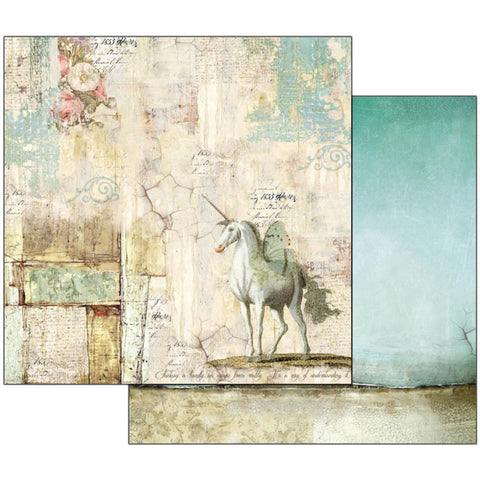 "Stamperia - Double-Sided Cardstock 12""X12"" - Wonderland Unicorn"