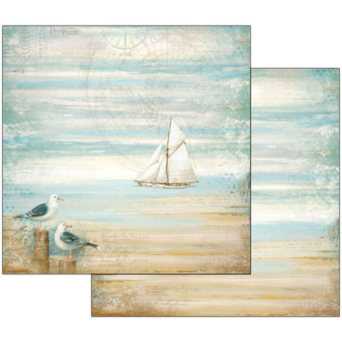 "Stamperia - Double-Sided Cardstock 12""X12"" Sea Land Seagulls"