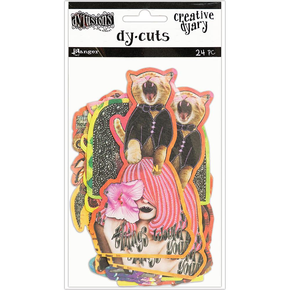 Ranger - Dyan Reaveley's Dylusions Creative Dyary Die Cuts 24/Pkg - Set 6