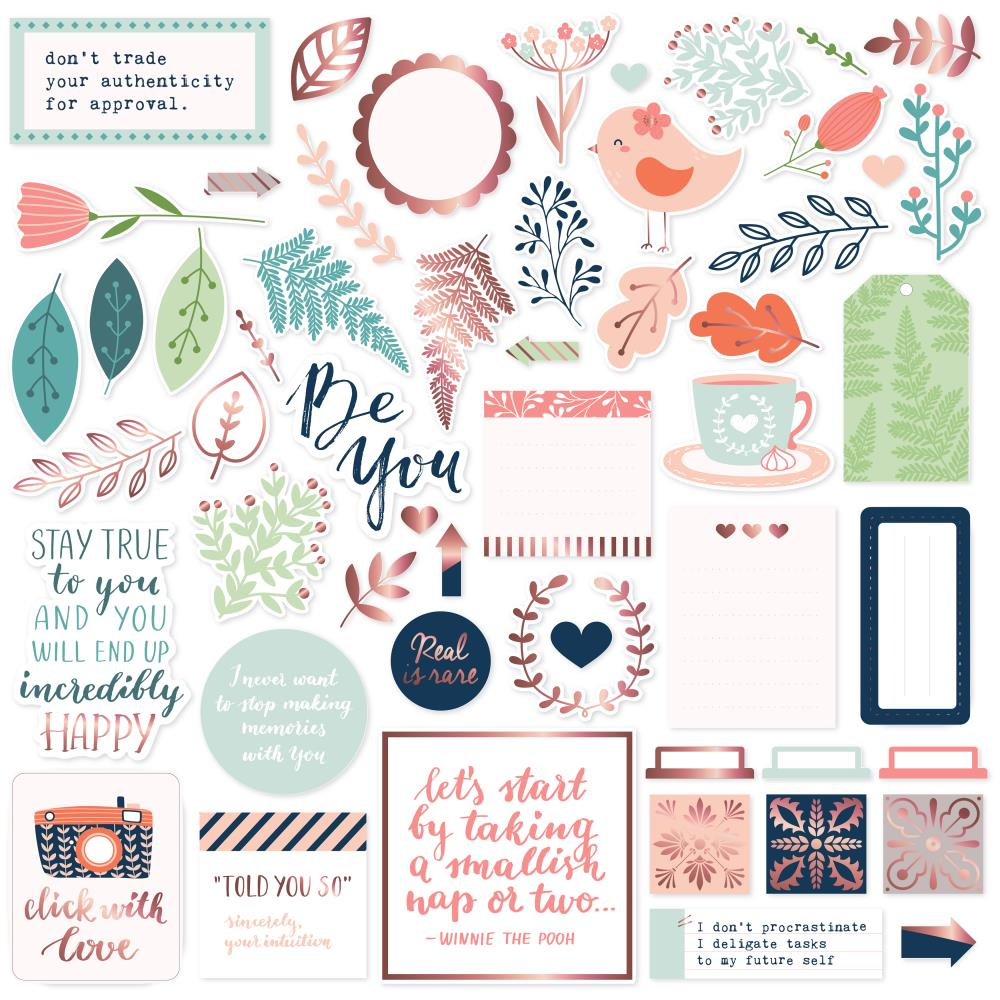 Pinkfresh Studio -  Be You Die-Cuts 54/Pkg - Ephemera