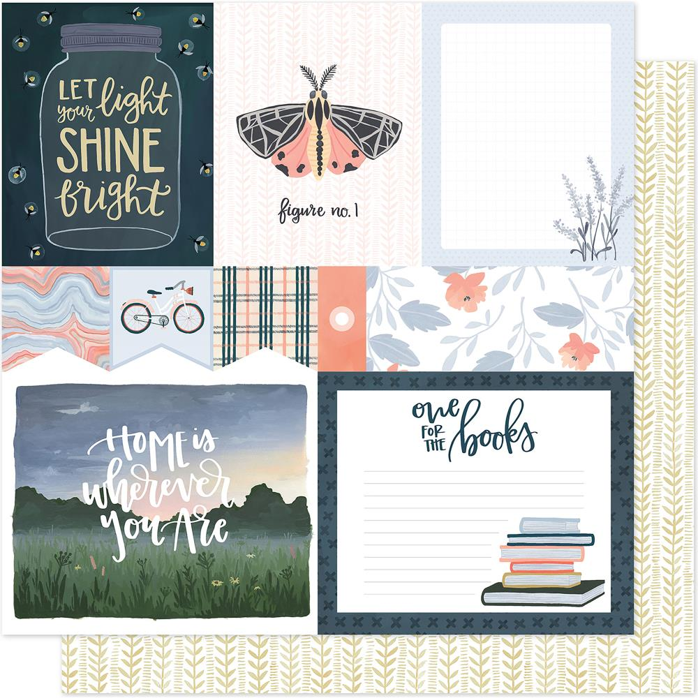 "American Crafts - One Canoe Two Twilight Double-Sided Cardstock 12""X12"" - Field Notes"