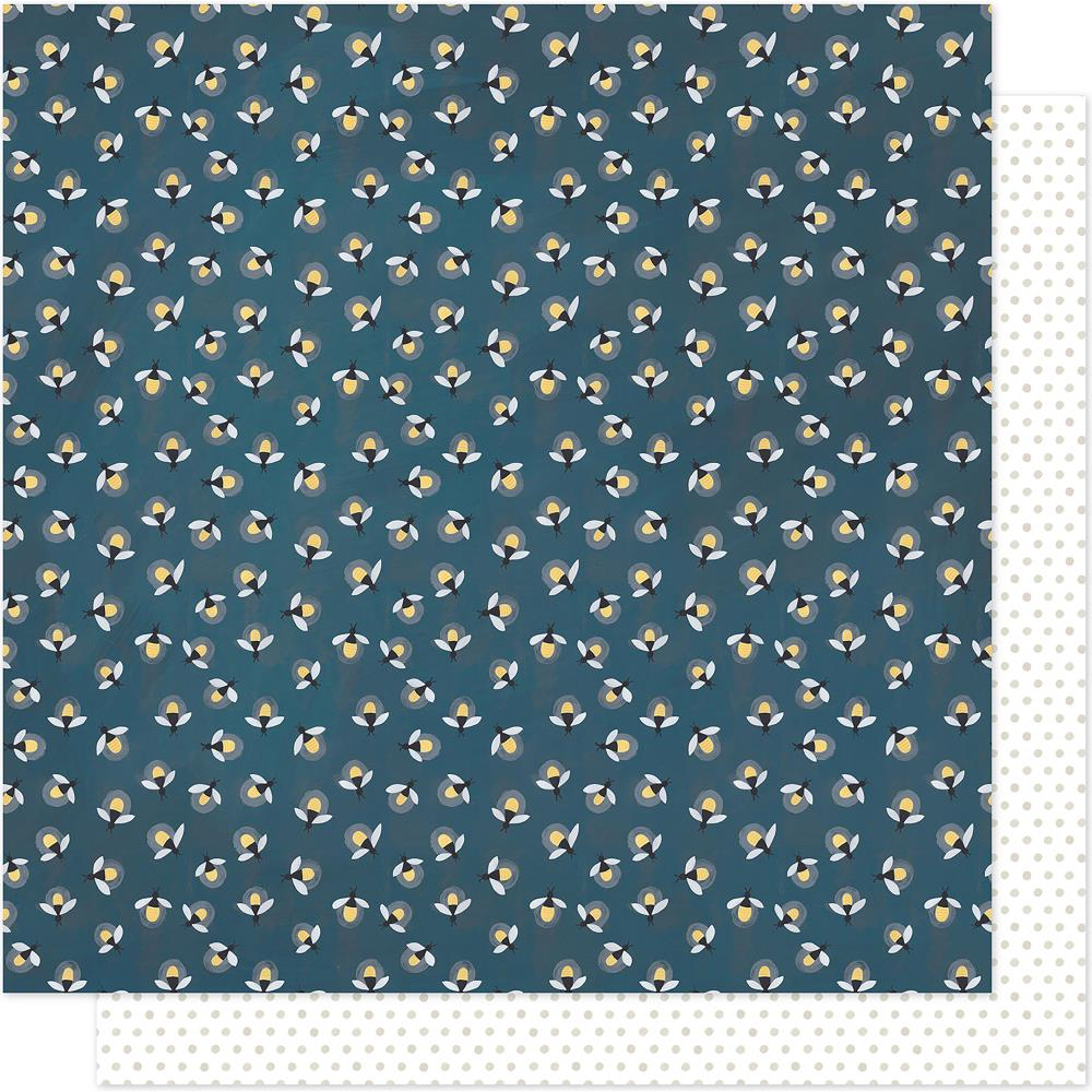 "American Crafts - One Canoe Two Twilight Double-Sided Cardstock 12""X12"" - Fireflies"
