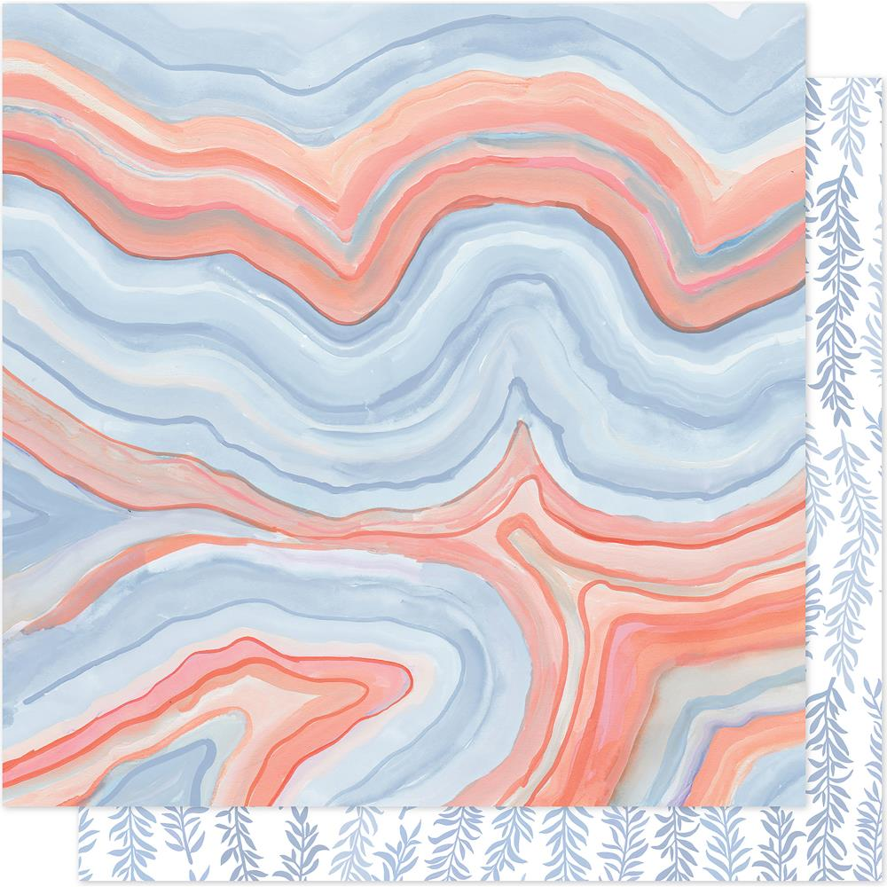 "American Crafts - One Canoe Two Twilight Double-Sided Cardstock 12""X12"" - Twilight Marble"