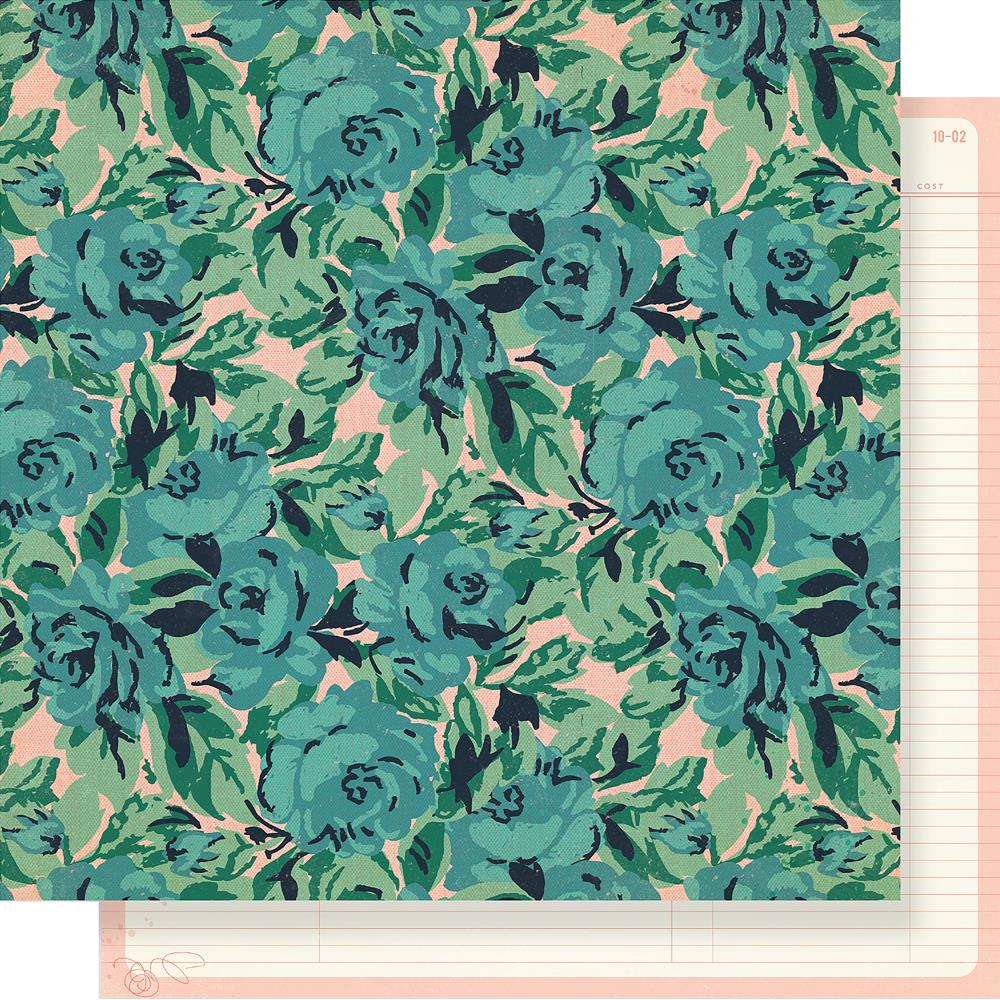 "Crate Paper - Maggie Holmes Flourish Double-Sided Cardstock 12""X12""- Rose Garden"