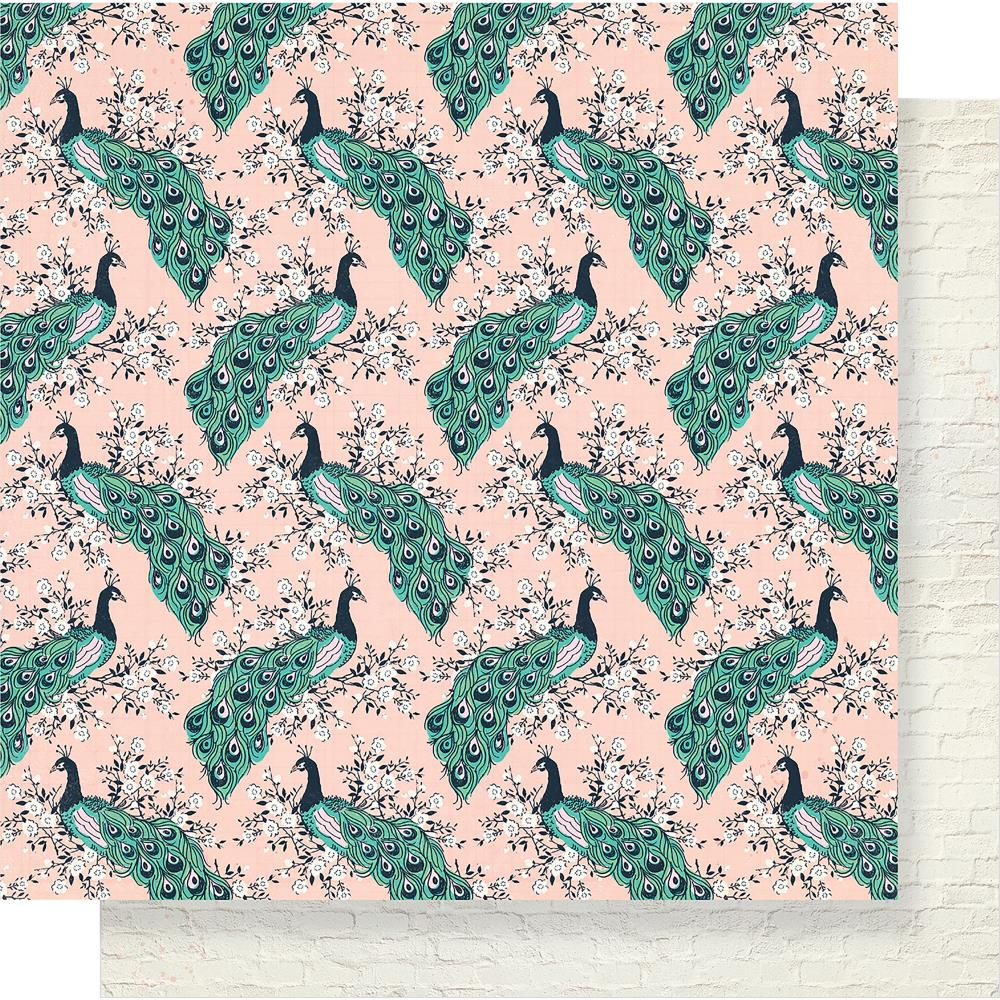 "Crate Paper - Maggie Holmes Flourish Double-Sided Cardstock 12""X12"" - Aviary"