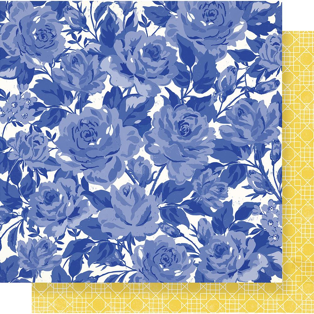 "Crate Paper - Maggie Holmes Flourish Double-Sided Cardstock 12""X12"" - Poetic"