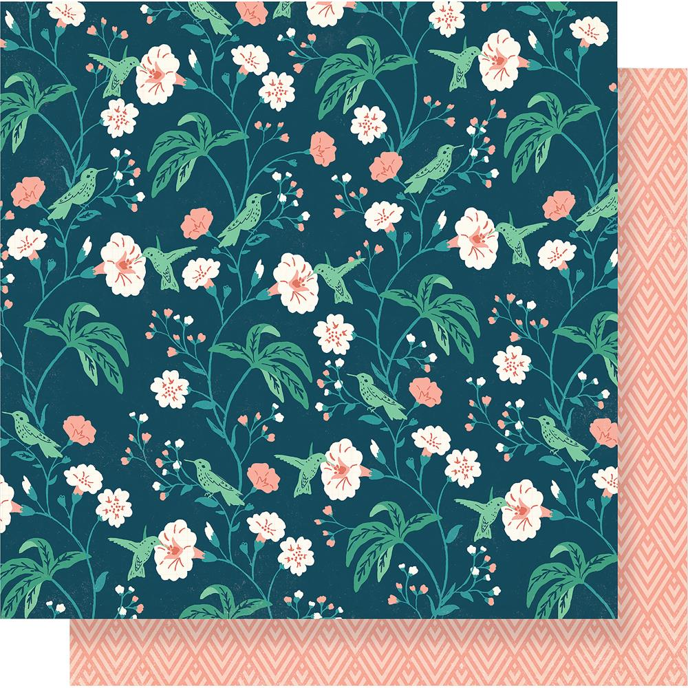"Crate Paper - Maggie Holmes Flourish Double-Sided Cardstock 12""X12"" - Hummingbird"