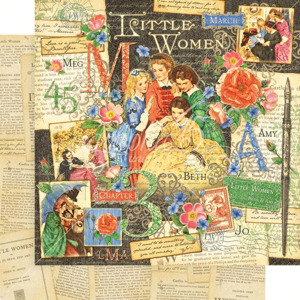 "Graphic 45 - Little Women Double-Sided Cardstock 12""X12"" - Little Women"