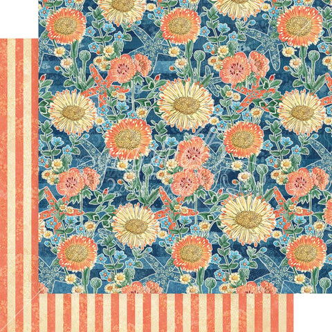"Graphic 45 - Sun Kissed Double-Sided Cardstock 12""X12"" - Floating Floral"