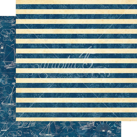 "Graphic 45 - Sun Kissed Double-Sided Cardstock 12""X12"" - Sail Away"