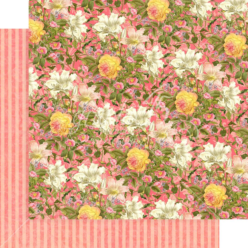 "Graphic 45 - Floral Shoppe Double-Sided Cardstock 12""X12"" - Pink Lilies"