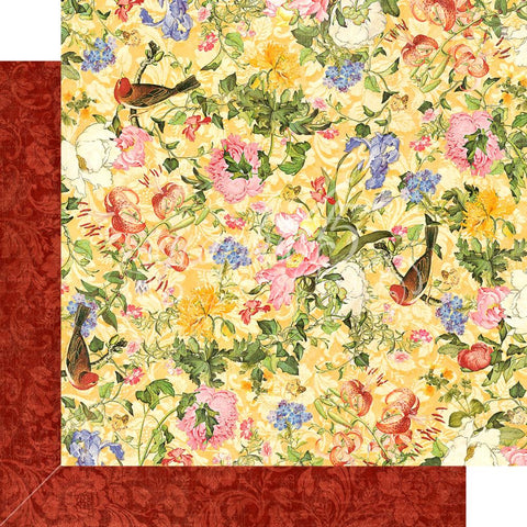 "Graphic 45 - Floral Shoppe Double-Sided Cardstock 12""X12"" - Golden Serenity"