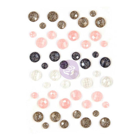 (Pre Order) Prima Marketing - Amelia Rose Say It In Crystals Adhesive Embellishments - Assorted Dots 48/Pkg