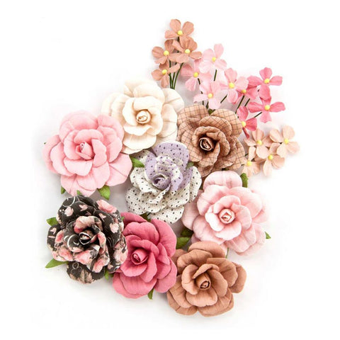 "(Pre Order) Prima Marketing - Amelia Rose Paper Flowers Love & Luck, .5"" - 1.5"" 12/Pkg"