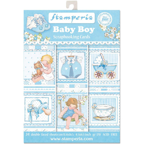 "Stamperia - Cards Pad 4.5""X6.5"" 24/Pkg - Baby Boy"