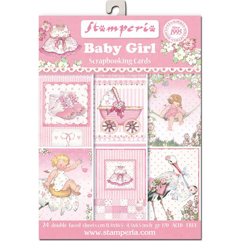 "Stamperia - Cards Pad 4.5""X6.5"" 24/Pkg - Baby Girl"